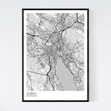 Load image into Gallery viewer, Zürich City Map Print