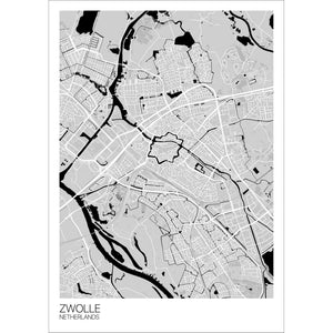 Map of Zwolle, Netherlands
