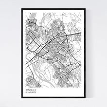 Load image into Gallery viewer, Zwolle City Map Print