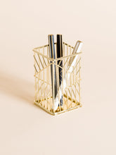 Gold Square Pencil Cup