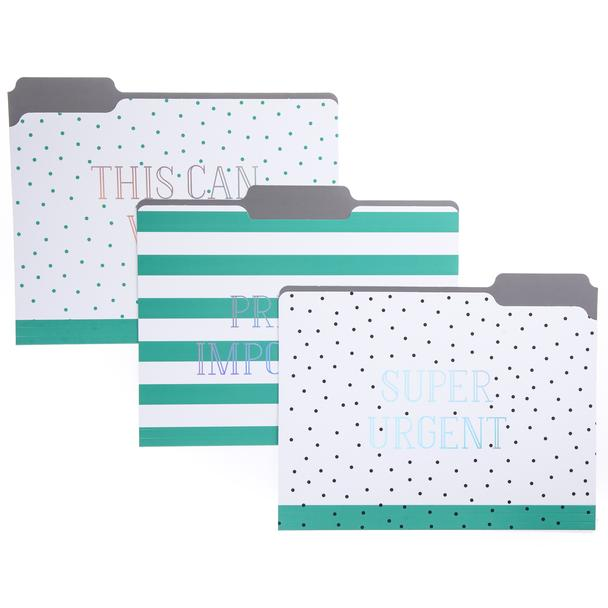 Green Dots Folder Set