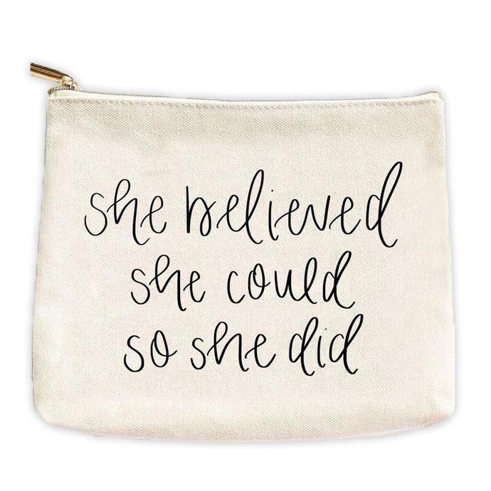 She Believed She Could Travel Pouch
