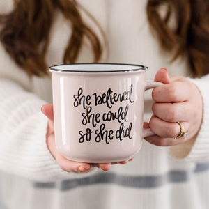 She Belived She Could Coffee Mug
