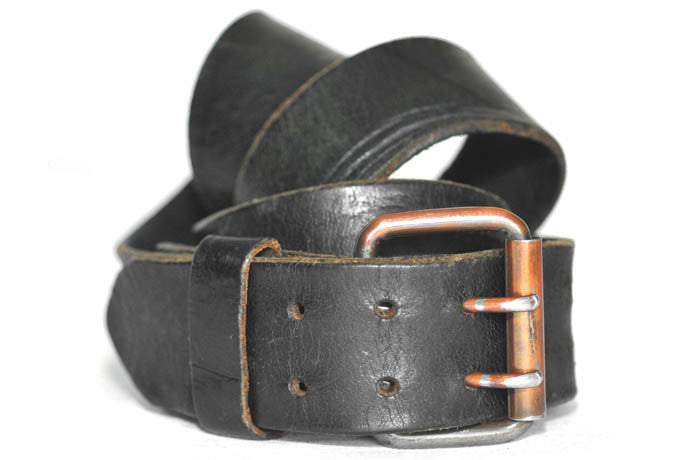 Vintage Double Prong Belt (Black)