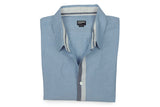 BURKMAN BROS-Chambray Button-Down Shirt