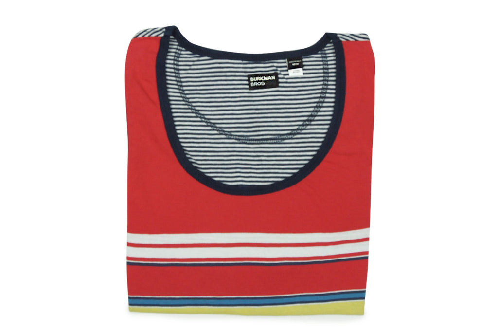 BURKMAN BROS-Striped Tank Top (Red/Navy/Blue)
