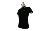 FRED PERRY-M3600 Twin Tipped Polo (Black/Porcelain)