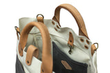 Winter Session Garrison Bag Grey and Natural