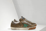 GOLDEN GOOSE-Superstar Low Top Sneakers (Olive)