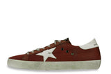 GOLDEN GOOSE-Superstar Low Top Sneakers (Red)