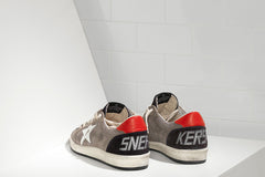 GOLDEN GOOSE-Ballstar Low Top Sneakers (Grey)