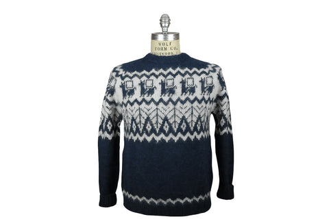 INDUSTRY OF ALL NATIONS-Hand Knit Sweater (Navy)