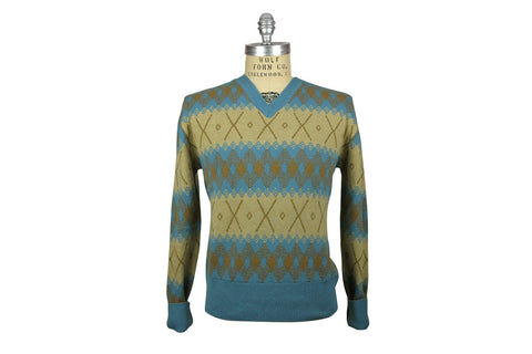 LEVI'S VINTAGE CLOTHING (LVC)-Fairisle Sweater (Silver Blue)