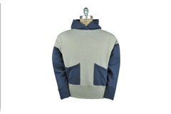 LEVI'S VINTAGE CLOTHING (LVC)-1950's Color Block Hoodie (Grey Melange / Washed Blue)