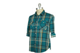 LEVI'S VINTAGE CLOTHING (LVC)-1950's Shorthorn Shirt (Petrol Check)