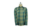LEVI'S VINTAGE CLOTHING (LVC)-1950's Shorthorn Shirt (Water Blue Multi Plaid)