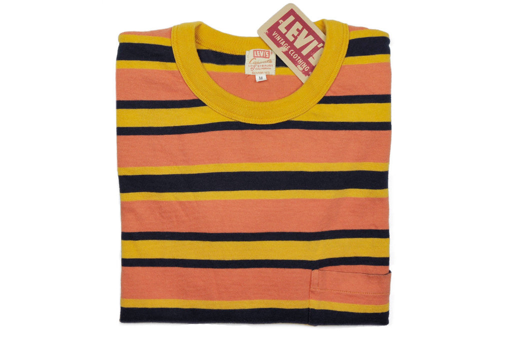 aaa87597 LEVI'S VINTAGE CLOTHING (LVC)-1960's Striped Tee (Golden Glo)