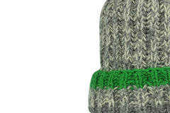 Skeve-Mix Color Line Knit Cap (Lime)