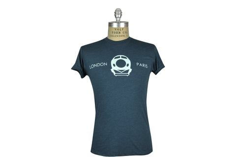 ˈw ə r k r o͝ o m by JEFFREY MARK-CHUNNEL LONDON - PARIS Tee (Navy)