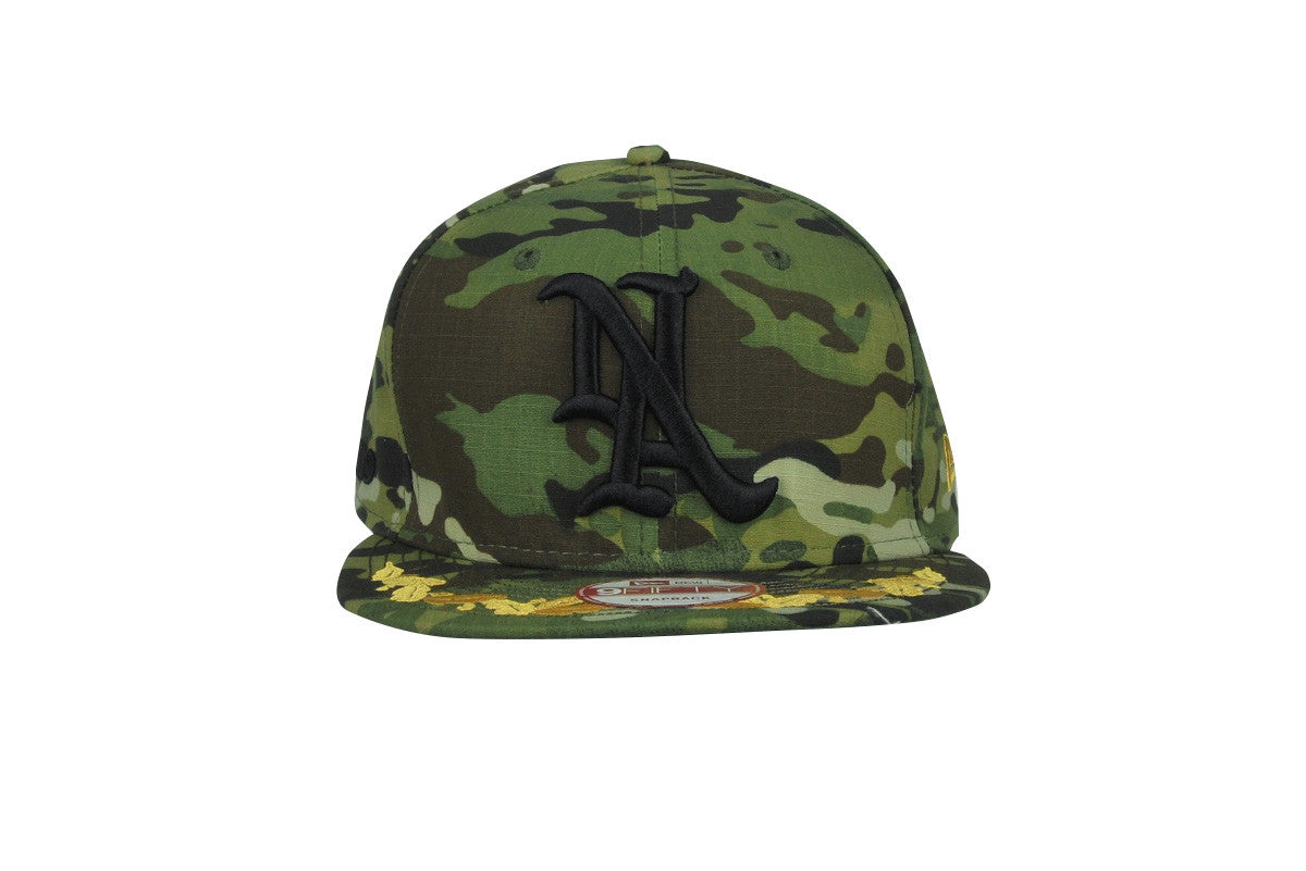 MARK McNAIRY NEW AMSTERDAM-Snap Back Hat (Woodland Multi Camo)