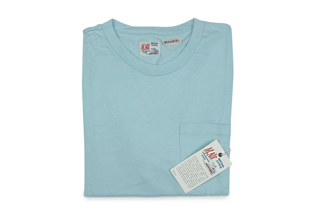 M.NII-Phillips Stripe Tee  (Aquamarine)