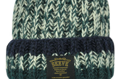 Skeve-Mix Color Line Knit Cap (Dark Green)