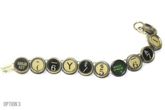 JEFFREY MARK COLLECTION-Vintage Typewriter Key Bracelet