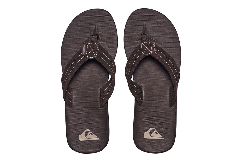 QUIKSILVER-Carver Suede Sandals (Chocolate Brown)