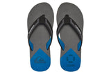 QUIKSILVER-Molokai New Wave Deluxe Flip Flops (Black/Blue/Grey)