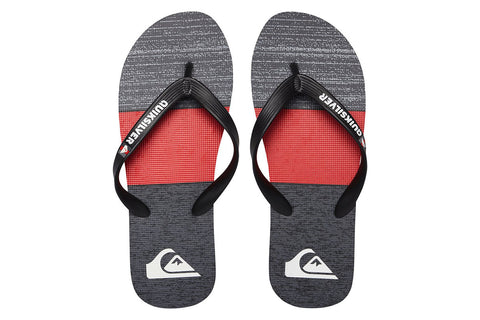QUIKSILVER-Molokai Blocked Flip Flops (Black/Red/Grey)