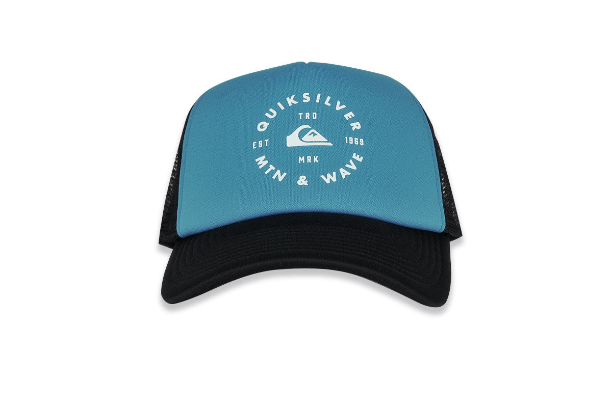 QUICKSILVER-Foamblast Trucker Hat (Blue Dunube)
