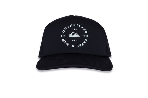 QUICKSILVER-Foamblast Trucker Hat (Black)