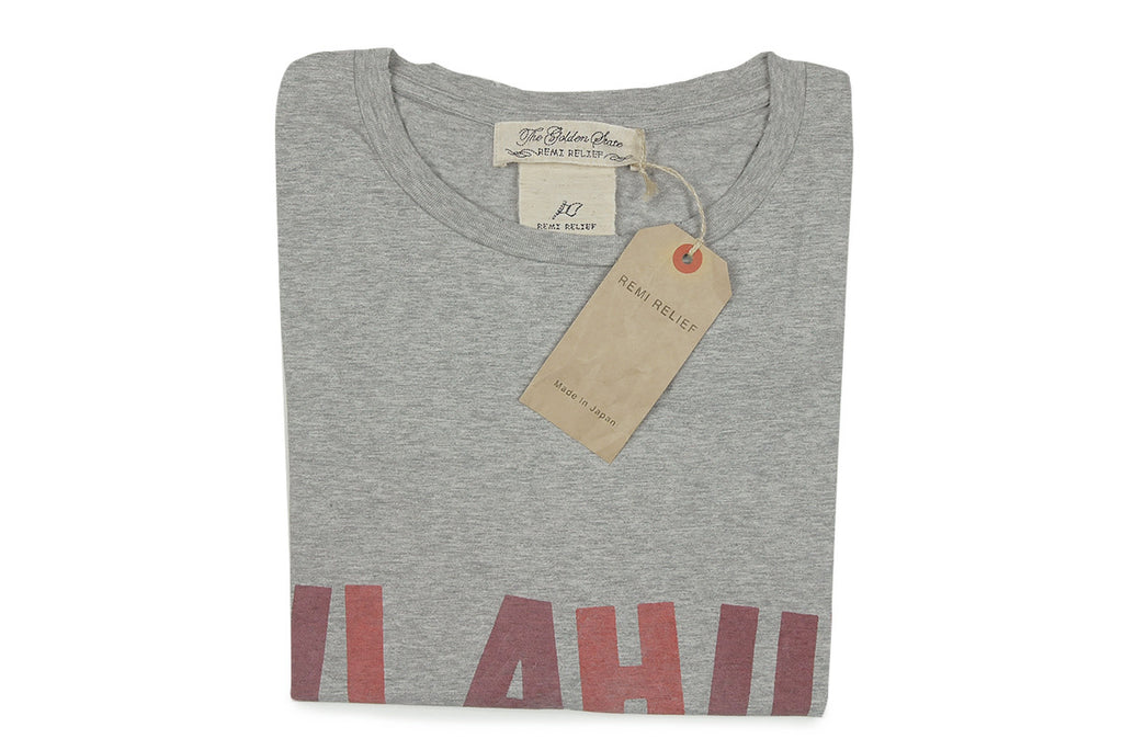 REMI RELIEF-Hulahula Tee (Heather Grey)