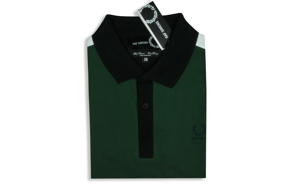 FRED PERRY x RAF SIMONS Tape Detail Polo (Tartan Green)