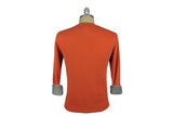 RELWEN-Thremal Knit Sweatshirt (Orange)