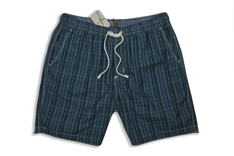 RELWEN-Volley Short (Blue/Green Plaid)