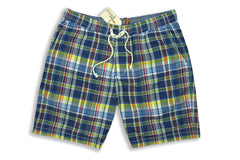 RELWEN-Volley Short (Blue/Yellow Plaid)