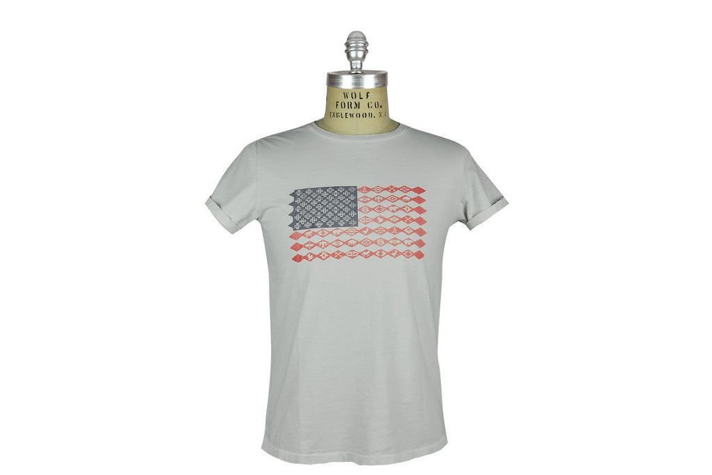 REMI RELIEF-American Flag Tee (Off White)
