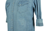 Remi Relief-Chambray Repair Shirt-Used Blue