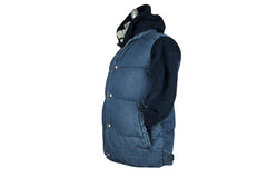 Remi Relief-Quilted Denim Vest (Used Blue)
