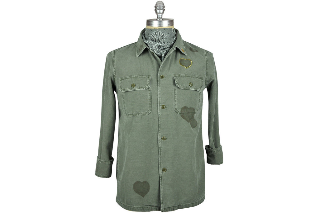 Remi Relief-Military Stencil Shirt-Jacket (Olive)