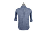 SAVE KHAKI-Gingham Check Button Down Shirt (Surf)