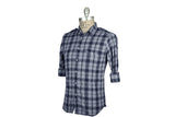 SAVE KHAKI-Madras Button Down Shirt (Navy Plaid)