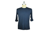 SAVE KHAKI-L/S Supima Cotton Crew Tee (Classic Navy)