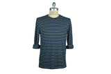 SAVE KHAKI-L/S Stripe Tee (Navy/White)