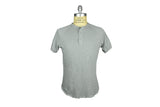 SAVE KHAKI-S/S Heather Jersey Henley (Silver Heather)