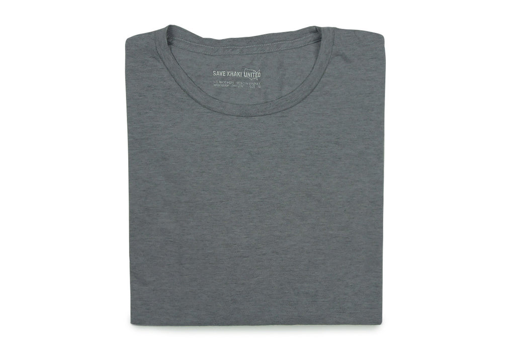 SAVE KHAKI-S/S Basic Tee (Heather Grey)
