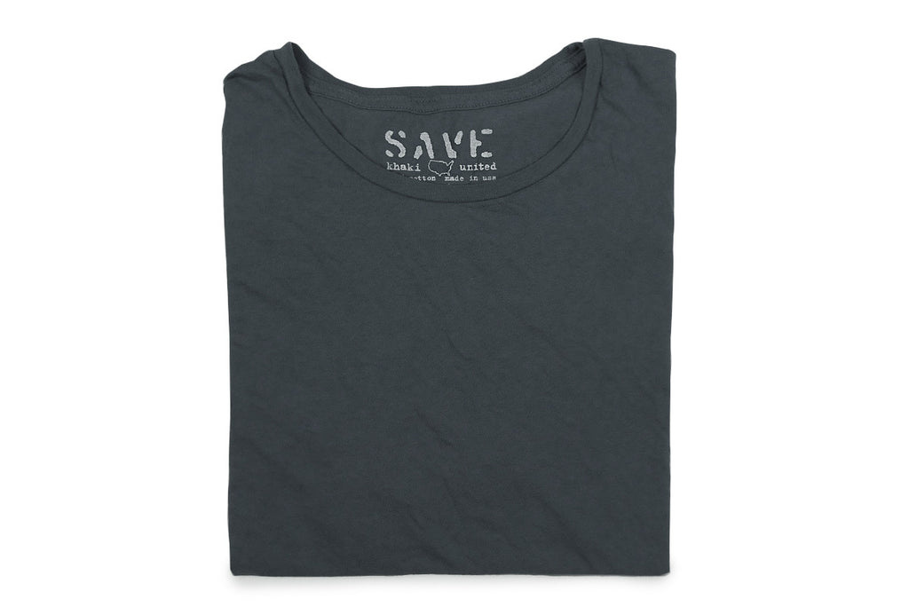 SAVE KHAKI-S/S Basic Tee (Indigo)