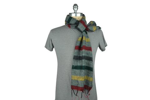 Skeve-4 Color Stripe Scarf (Grey Multi)