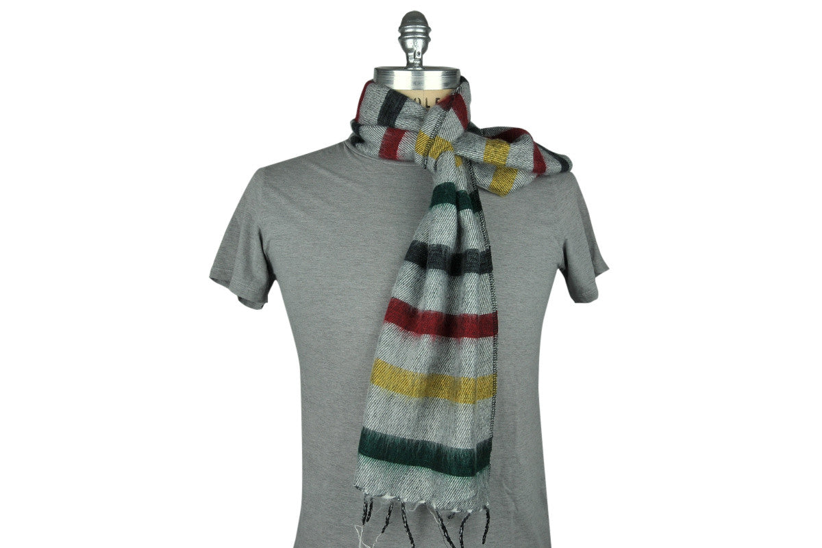 Skeve-4 Color Stripe Scarf (White Multi)